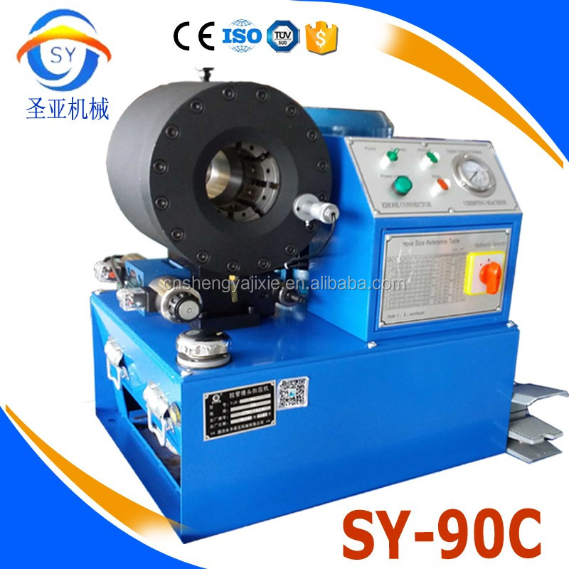 CE 1.2.3.4.5.6.7 inches factory sales 520T high pressure hydraulic crimping machine