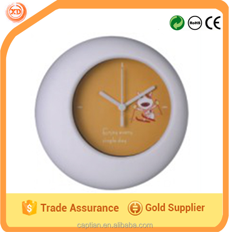 plastic wall clock custom face