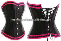 women latex pink corset hot sexy lingerie corset glamour sexy lingerie and sexy corsets high quality big women sexy lingeries