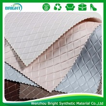 nonwoven Quilted cheap pu leather shoe use wholesale fabric rolls
