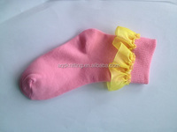 girl soft touch lace socks for summer wear AQD-GS-122