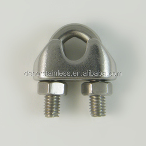 Stainless steel DIN741 wire rope clamp