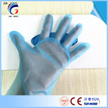 Transparent/Blue PE Plastic glove disposable poly gloves cook embossed polyethylene glove