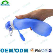 FDA approved outdoor water canteen BPA free silicone collapsible water bottle wholesale