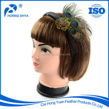Manufacturers Of Direct Selling Peacock Feather Headband 2016 World Hot sale BF-202