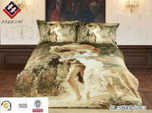 king size 3D angel printing 100% cotton bedding set /bed sheet/duvet cover