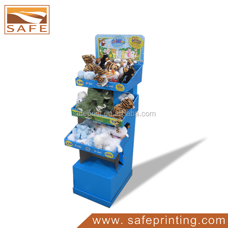 3 shelves foldable dolls display stand