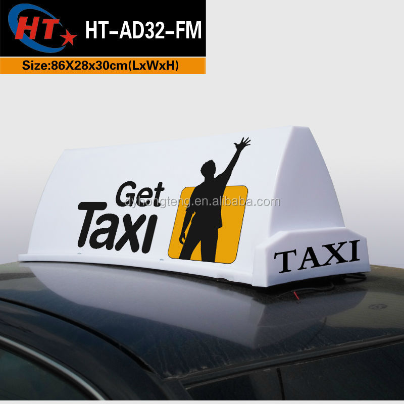 White pp plastic car roof top advertising with CE