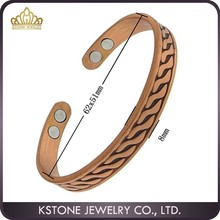 KSTONE Four tone Pure Magnetic Copper Bracelets Arthritis Healing Golf Cuff Bangle, magnetic bracelets and bangels