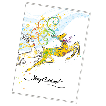 Merry christmas magic greeting paper cards collections view paper merry christmas magic greeting paper cards collections m4hsunfo