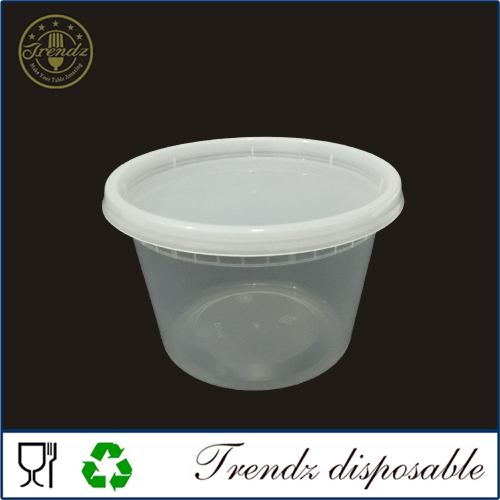 PP plastic disposable microwave lunch box food container with lid