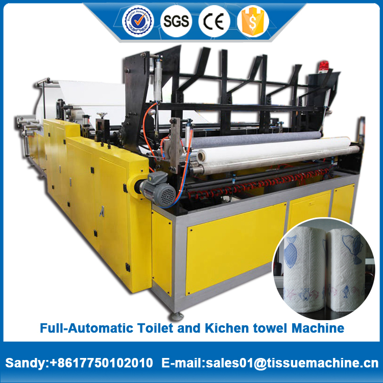Factory price quality assurance Jumbo toilet paper roll perforated machine with GS report