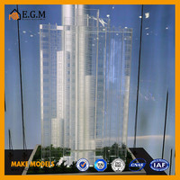 crystal building model with landscape for construction and exhibition