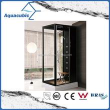 High quality black surface shower room with stool