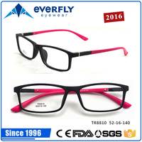2016 latest fashion plastic TR90 teenager eyeglass colorful kids teens spectacle frames factory wholesale cheap price