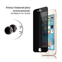OEM / ODM 2016 newest ! 9H full cover privacy tempered glass screen protector tempered glass film for iphone 6 / 6s (privacy)