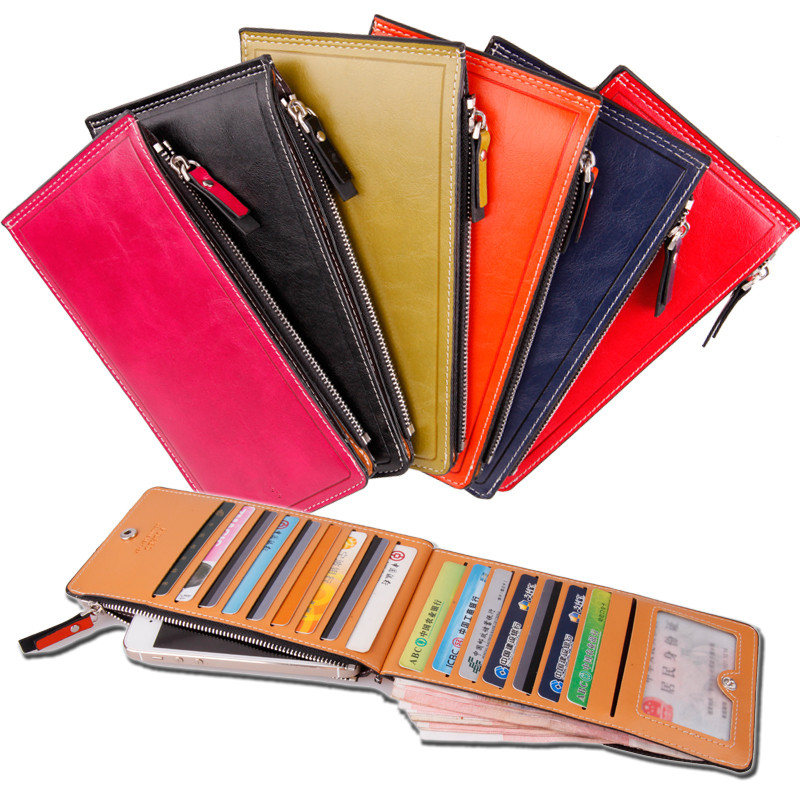 PU leather credit card holder and cheque book holder wallet phone case