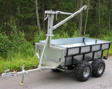 ATV timber wood trailer with manual/electric winch