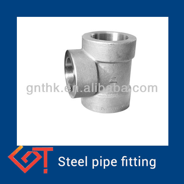 threaded tee forged Pipeline Steel Tee with A694 F52
