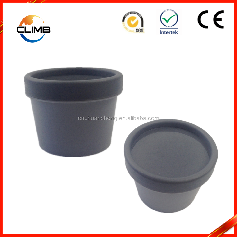 High quality 50g recycled cute plastic cosmetic jar for cream packaging plastic PP black bottle