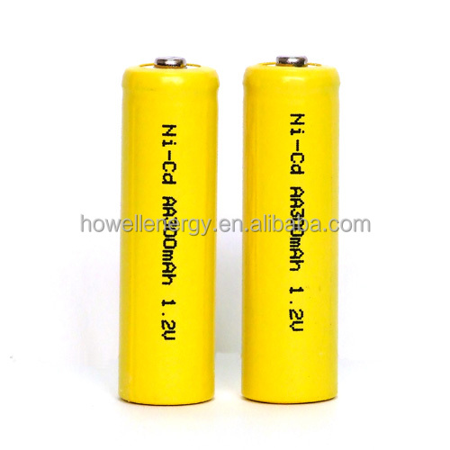 ni-cd 1.2V AA 300mah nickel cadmium battery AA300 Nicd rechargeable battery Cell for emergency power supply