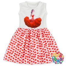 Latest Beautiful Girl Print Summer Little Kid Girls Dresses Designer One Piece Party Birthday Dress For Girl Of 7 Years Old