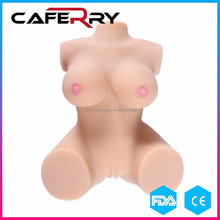 Soft Silicon big Breast ass Dolls Artificial Vagina Anal Ass Toys Half Body Solid Sex Dolls Male Masturbator