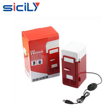 China Novelty Promotional Gifts USB Freezer Refrigerator ,Beverage Drink Cans USB Cooler ,Portable USB Mini Cooling Fridge