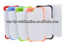 Dual-Protective 3D heat press Phone Case for iphone5/ Dual phone case/ cheap blank case