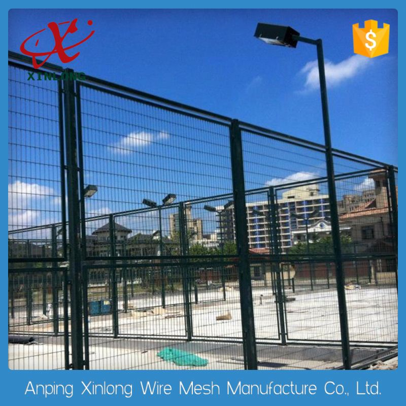 Firm structure galvanized welded wire mesh fence panels in 6 gauge