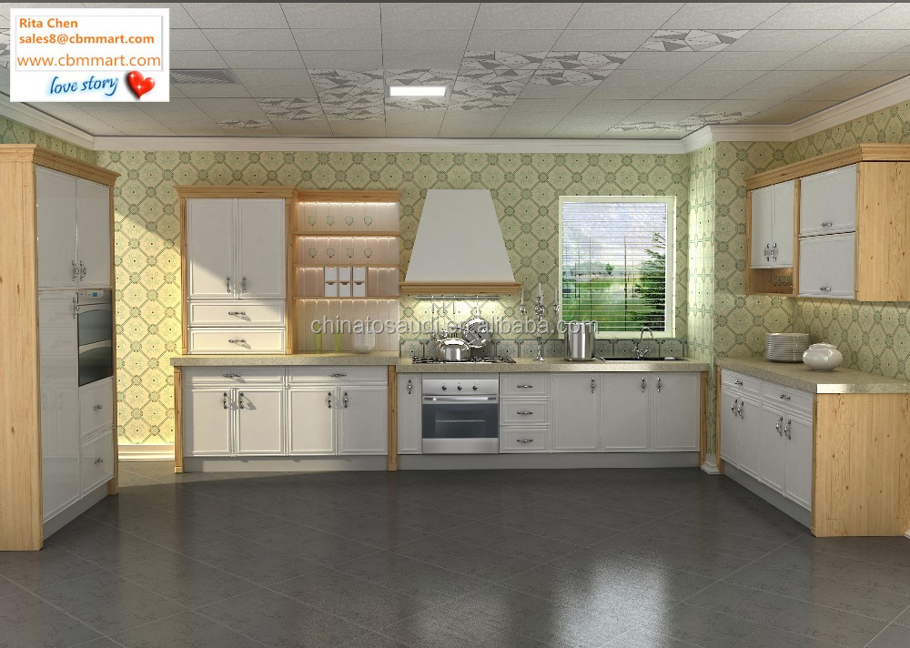 Pre assembled wood kitchen cabinet buy pre assembled for Assembled kitchen cabinets