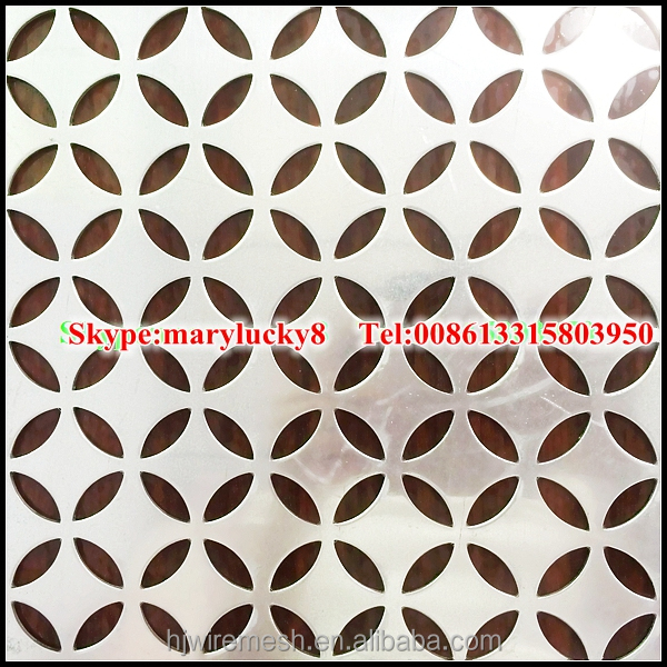 aluminium perforated metal mesh sheet/anodized Perforated Aluminum Sheet
