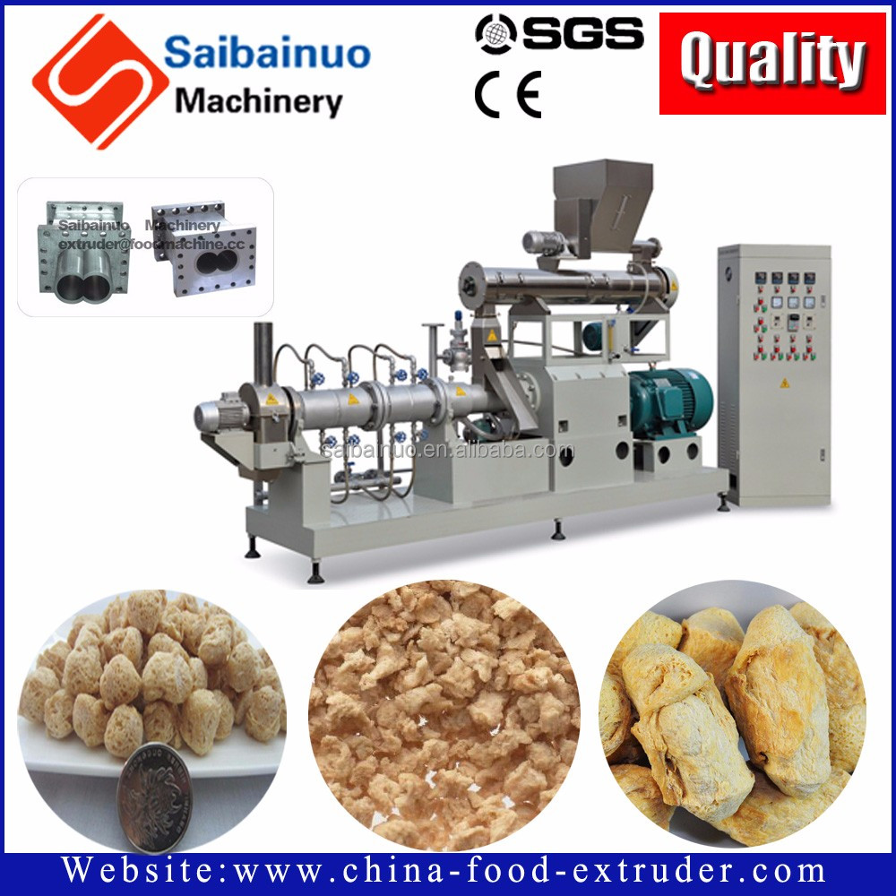 Textured soya nuggets/chunks/mince meat machines