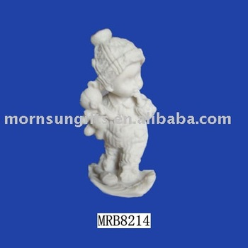 DIY color painting unfinished paintable resin figurine