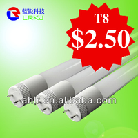 T8 9W LED glass tube, 600mm led tube light 85-265V/AC