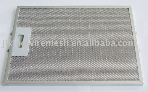 Cooker hood filter with lock button