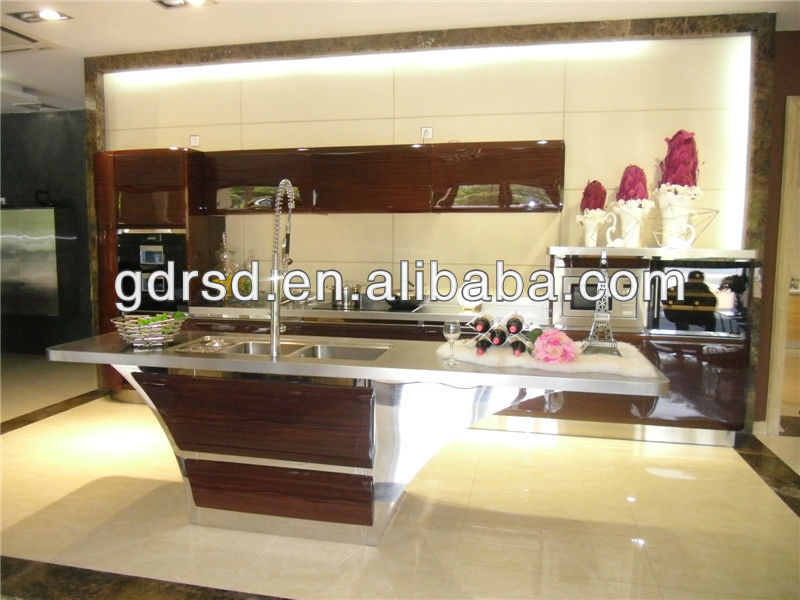 modern stainless steel kitche cabinets
