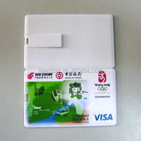8GB USB 2.0 Credit Card USB Flash Drive With Custom Personalized Logo