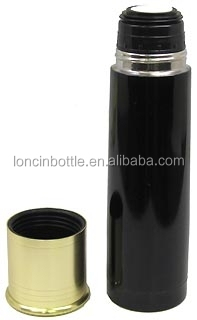 Double wall 18-8 stainless steel insulated 20ga Shotshell Thermal Bottle Black ,Shotshell 20-Gauge Thermal Bottle