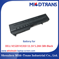 Top Rechargeable Laptop Battery Supplier for DELL V1520 V1310 11.1V 5.2Ah 58h Black