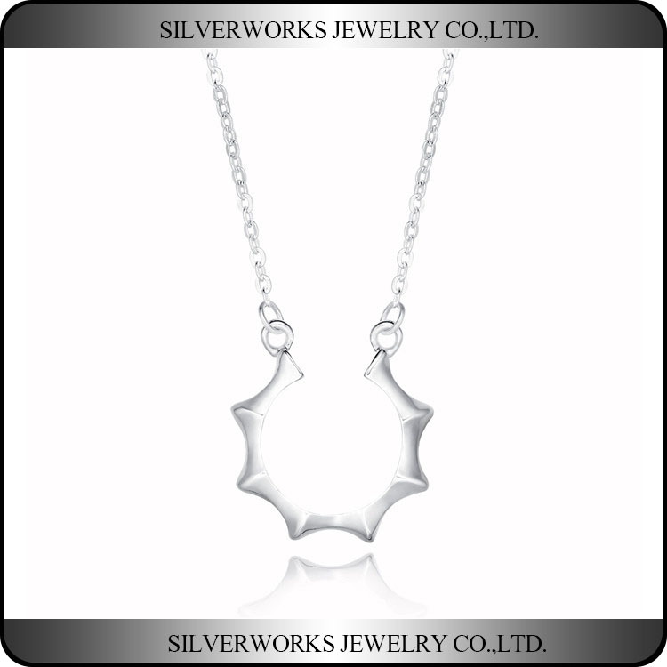 Brighten Your Future Sterling Silver Sunshine & Hope Design Necklace