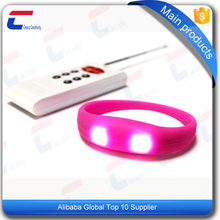 programmable remote controlled led light silicone rfid bracelet