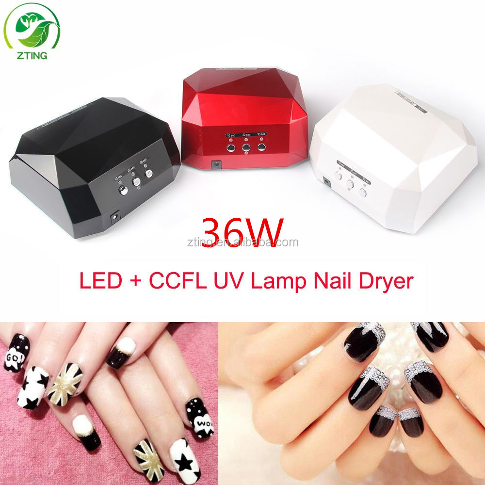 New wholesale <strong>price</strong> uv nail lamp 36watts diamond shape 36w nail dryer professional 36w ccfl led nail lamp