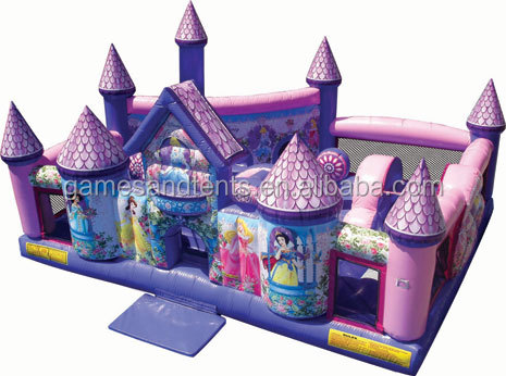 funny inflatable toys games,inflatable princess castle combo A3076