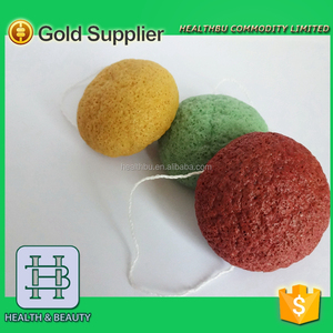 Hot selling for amazon 100% natural konjac face sponge