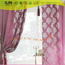 Gold printed curtain blackout curtain fashion latest design