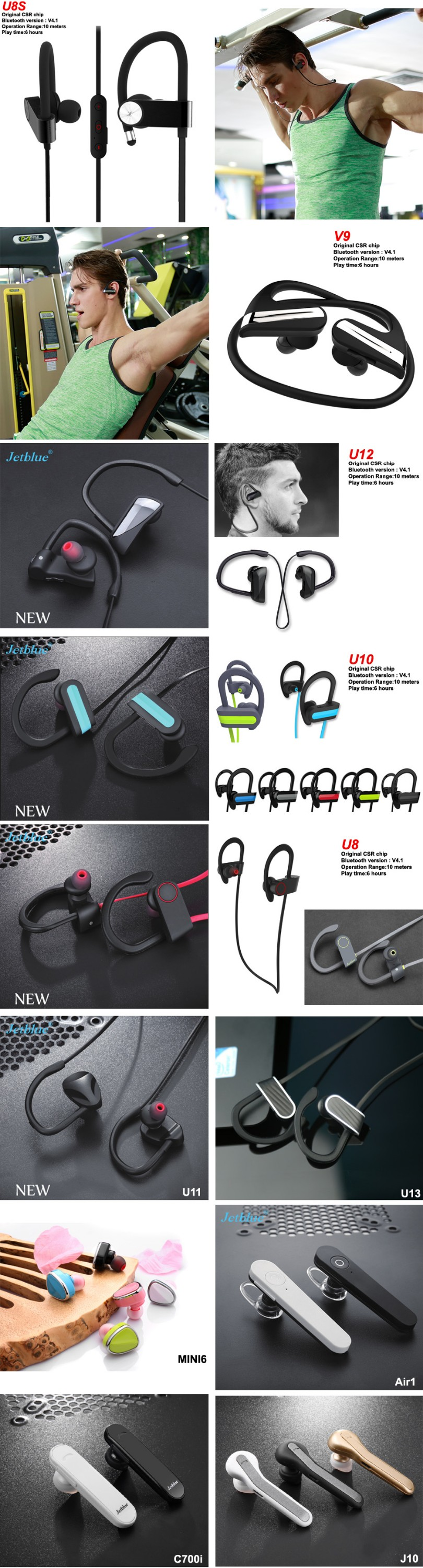 hot selling 2017 amazon bluetooth earpiece single wireless earphones bluetooth