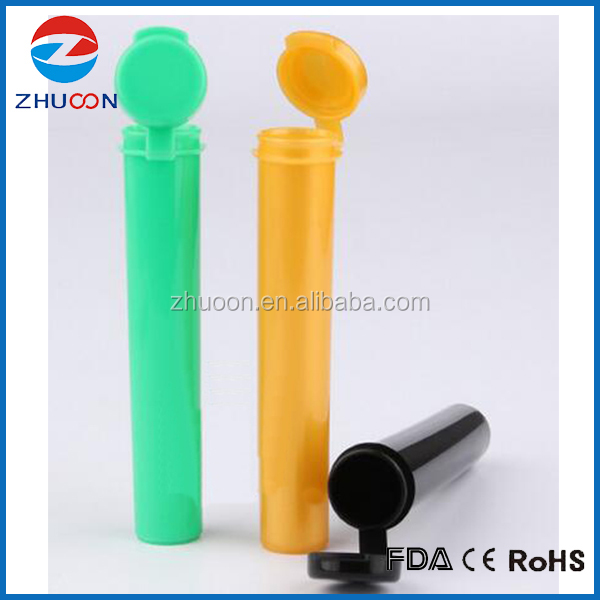 Food grade PP joint tube plastic hinged lid blunt tube J tube vial