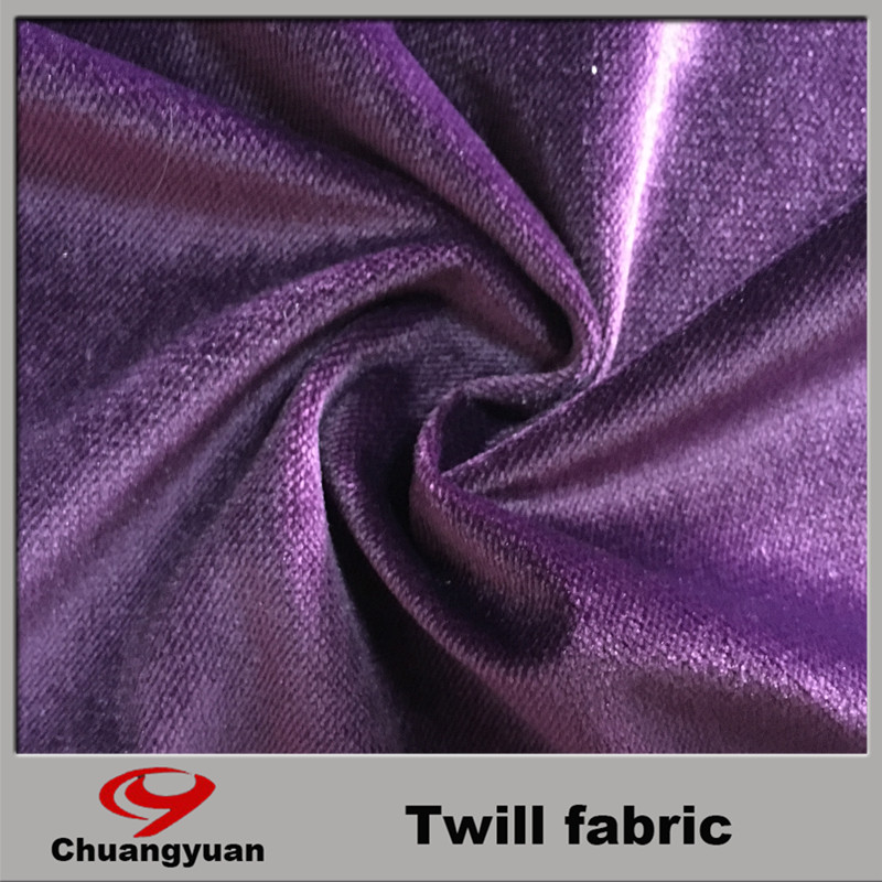 fashion 2017 polyester knit twill fabric/velvet for shoes/cloth/shirts/curtain
