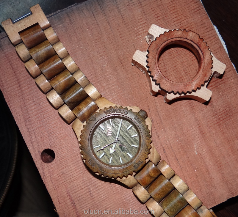 luxury wood watch made in china with square case
